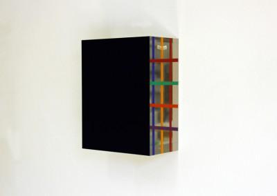 Blue Coloured Pattern II , 2011, 20 x 15,5 x 8,5 akrylglas