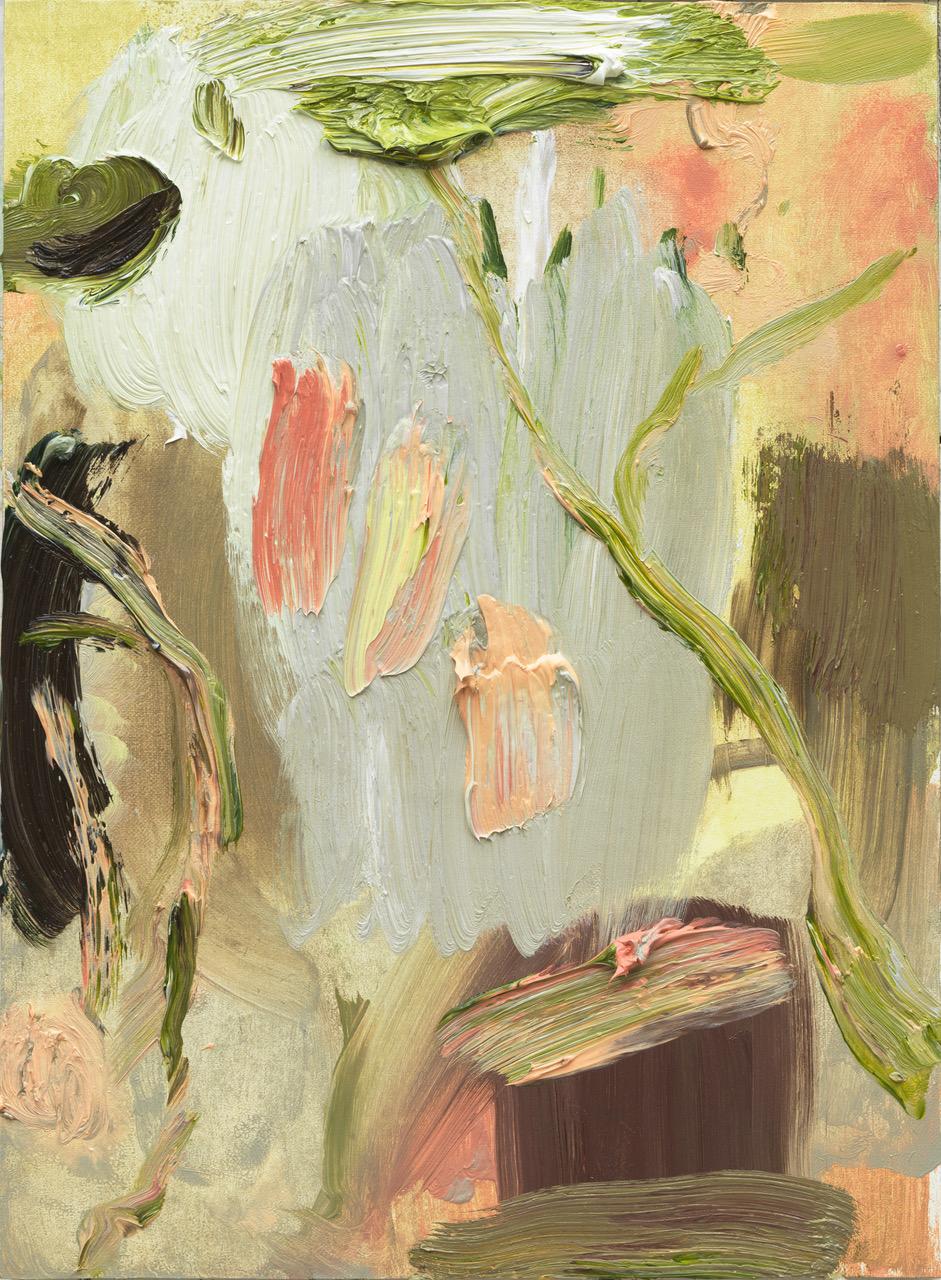 Roger Metto, Fjälltur, 2017, oil on panel, 30 x 22 cm