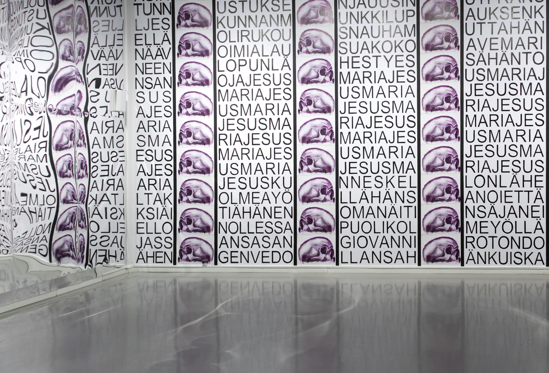 Jukka Korkeila, Every Death Bed is a Gate of Heaven, Ecstasy of st. Theresa, Amos Anderson art museum, Helsinki, Finland, 2015, curated by Sara Orava & Stiina Saaristo, photo by Stella Ojala