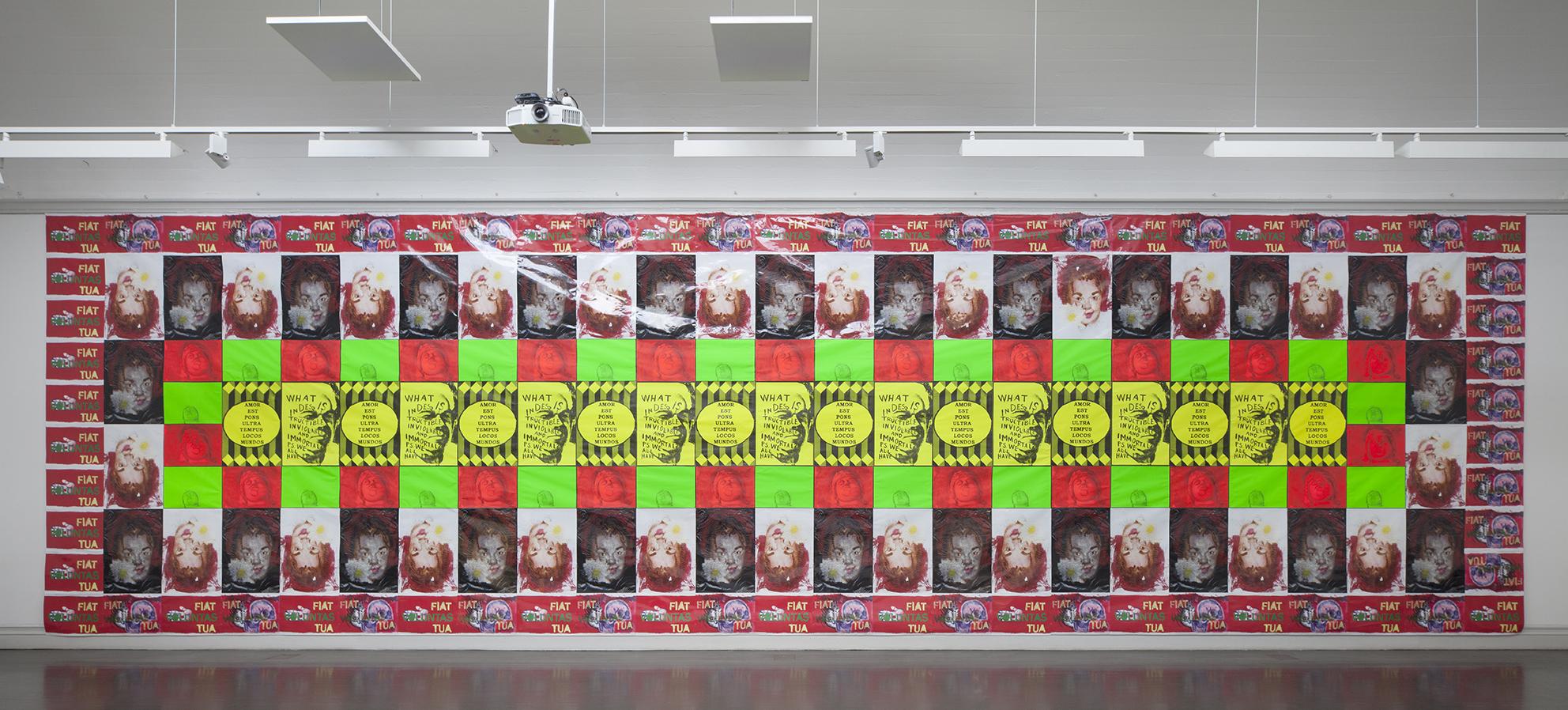 Jukka Korkeila, Fiat Voluntas Tua (Thy will be done), poster installation, Last Artists´ exhibition, kunsthalle, Helsinki, Finland, 2014-15, curated by Marketta Haila & Villu Jaanisoo