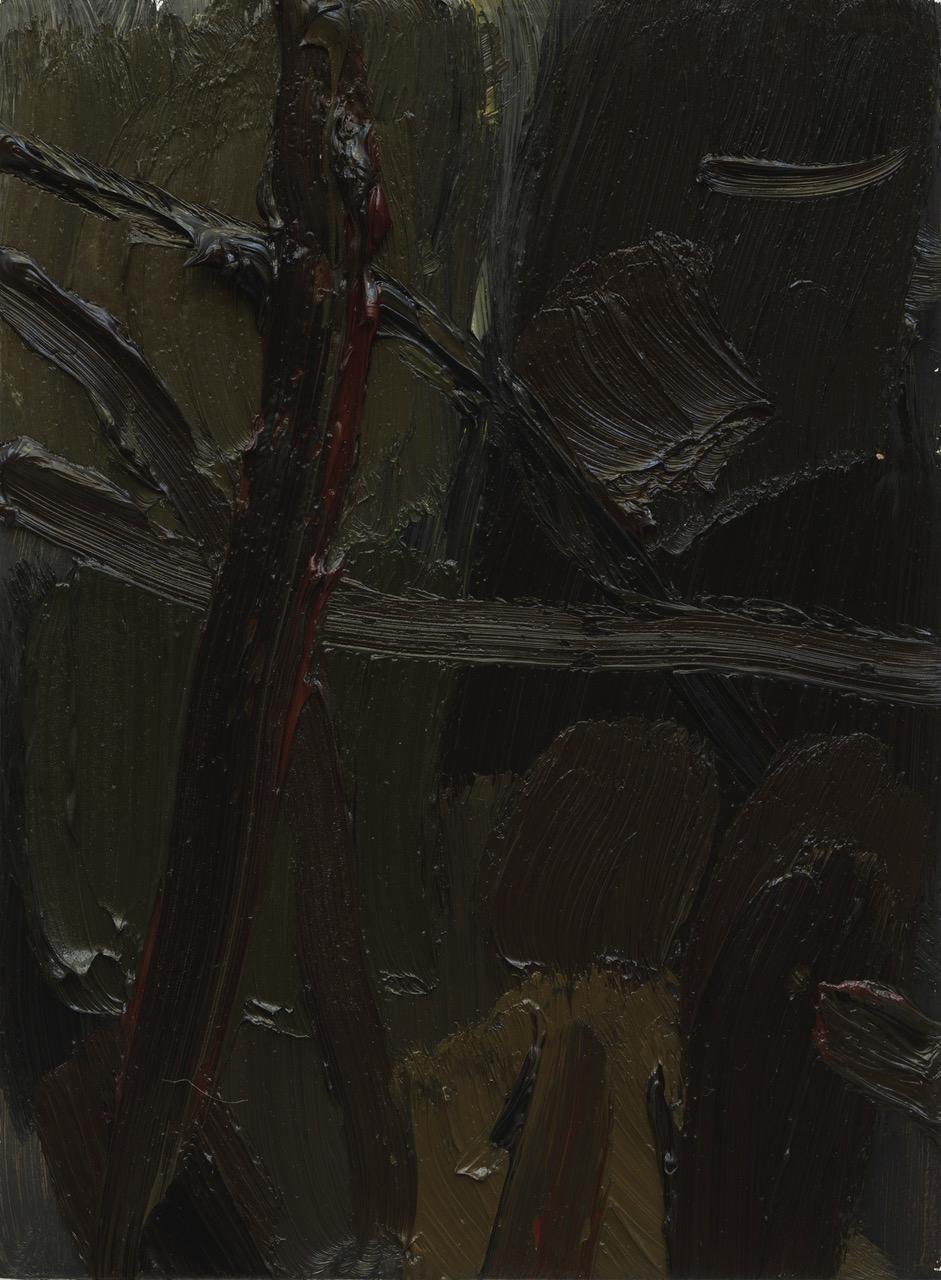 Roger Metto, Skogens rygg, 2017, oil on panel, 30 x 22 cm