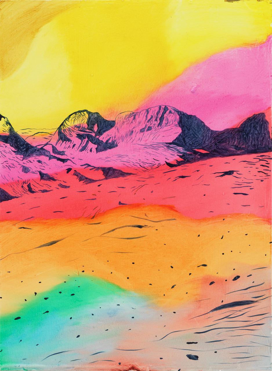 Roger Metto, Topview, 2017, oil on panel, 30 x 22 cm