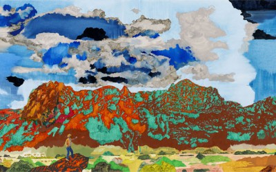 Western swing, 2010, olja på duk 50x170 cm