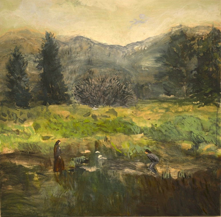 Helmtrud Nyström, Höglandet, 2016, oil on canvas, 65 x 65 cm
