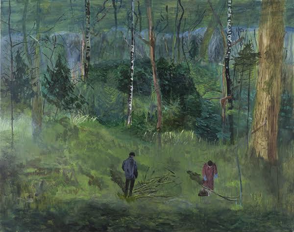 Helmtrud Nyström, Samla ved, 2014, oil on canvas, 115 x 145 cm