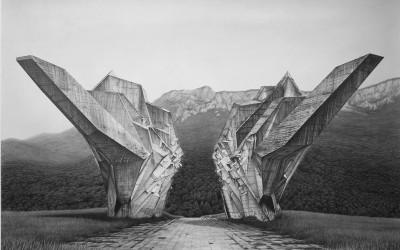 The Battle of Sutjeska, 2015, 106x140cm, blyerts och kol på papper