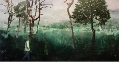 Högmosse, 2009, olja på duk 75x105 cm