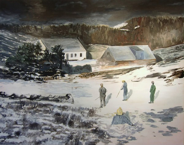 Helmtrud Nyström, Vinterlekar, 2010, oil on canvas, 115 x 145 cm