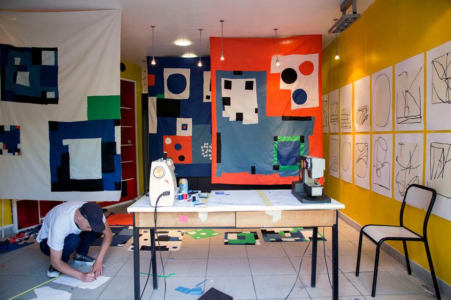 Ekta, Installation for Bien Urbain, Besancon 2017. Photo by Elisa Murcia Artengo.