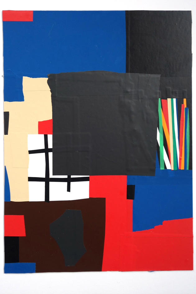 Ekta, Untitled, 2016, vinyl collage, 42 x 29.7 cm