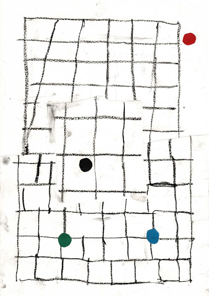 Ekta, Untitled, 2017, collage on paper, 42 x 29.7 cm. Photo by Elisa Murcia Artengo.