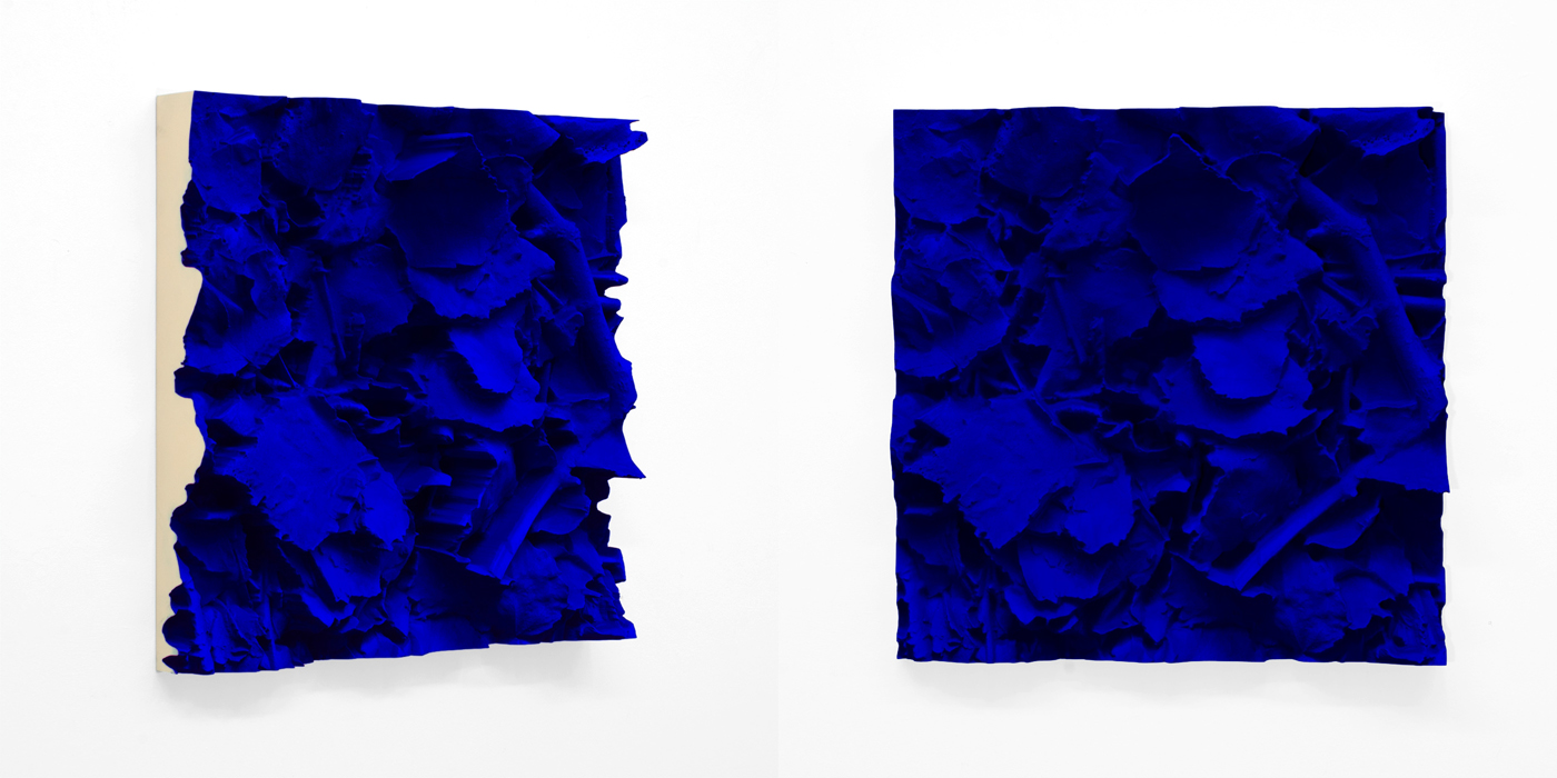 Juri Markkula, IKB Ground, 2016, Pigmented polyvinyl on polyuretan relief, 50 x 50 x 13 cm