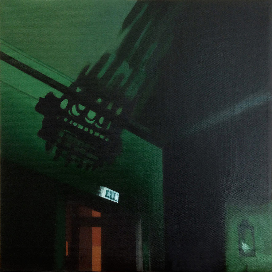 Christina Skårud, Exit, 2014, Oil on canvas, 45 x 45 cm
