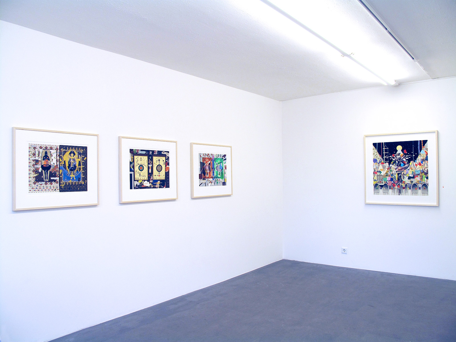Gustav Sparr, Manuscript - The Chinvat Bridge (Heavenly Twin), 2016, 61.5 x 50.5 cm, Terminal-MeMeX, 2016, 61.5 x 50.5 cm, Template - I X I = I, 2016, 61.5 x 50.5 cm, Mount, 2014, 90 x 95 cm, allI nkjet