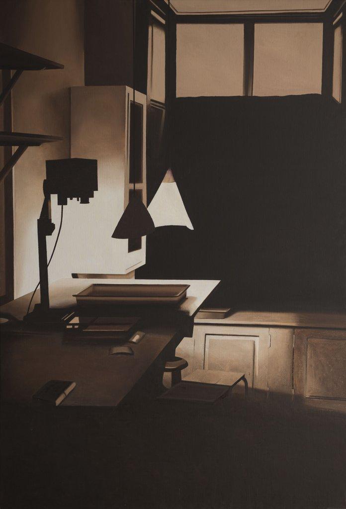 LG Lundberg, Mörkrummet, 2016, Oil on canvas, 190 x 130 cm