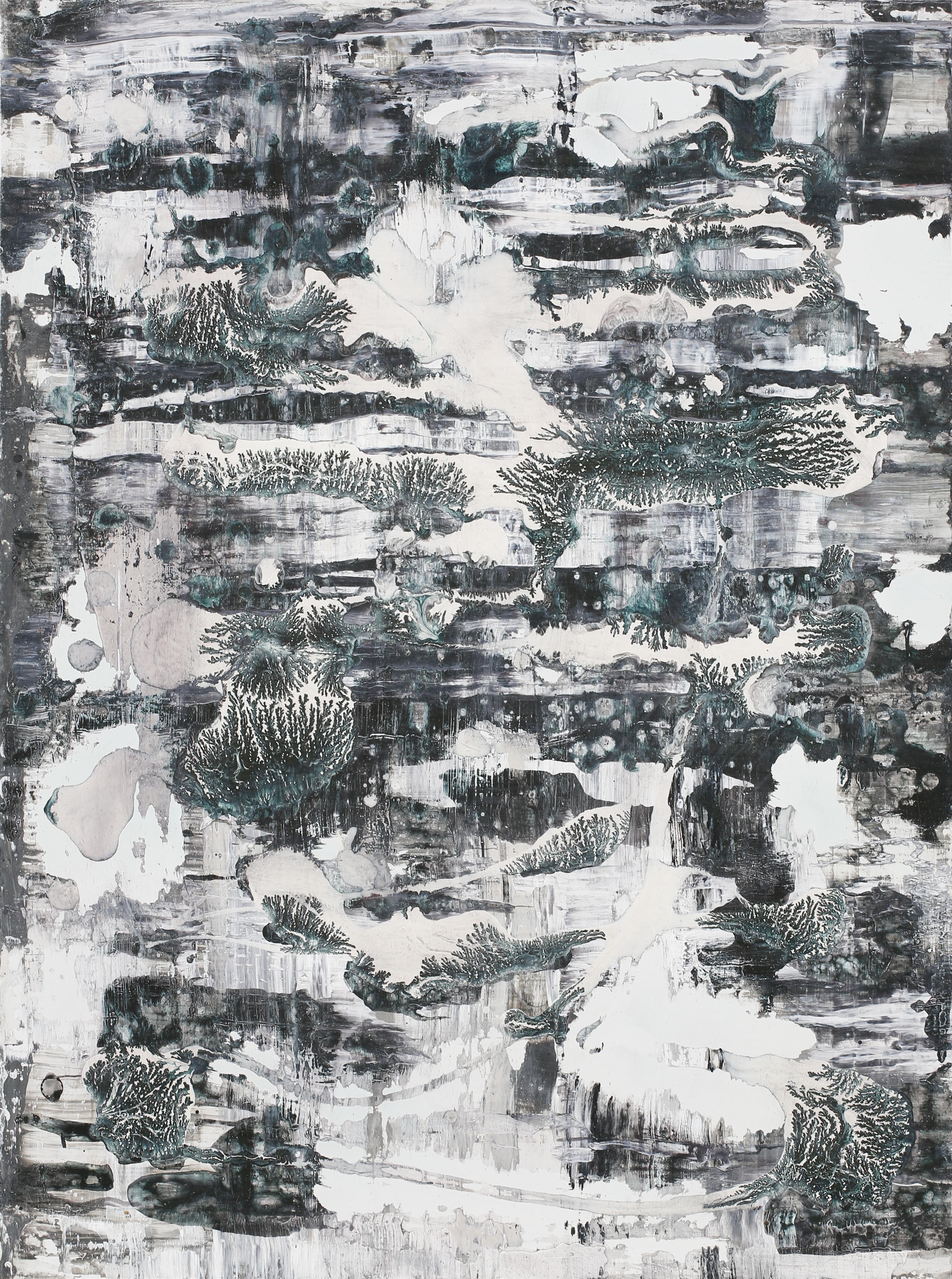 Martin Formgren, Illuminations I, 2017, acrylic, ink and emulsion on aluminium