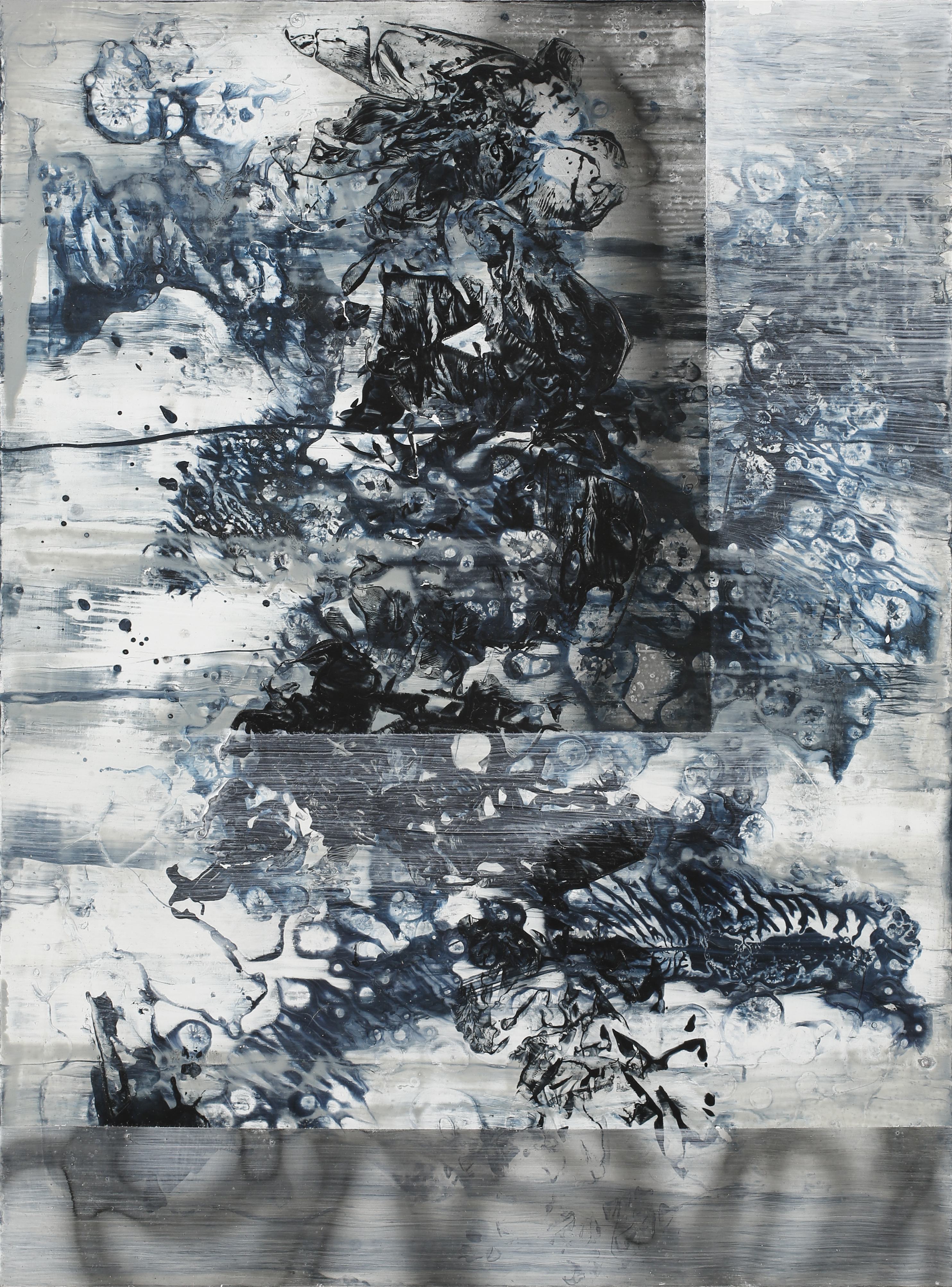 Martin Formgren, Illuminations IV, 2017, acrylic, ink and emulsion on aluminium