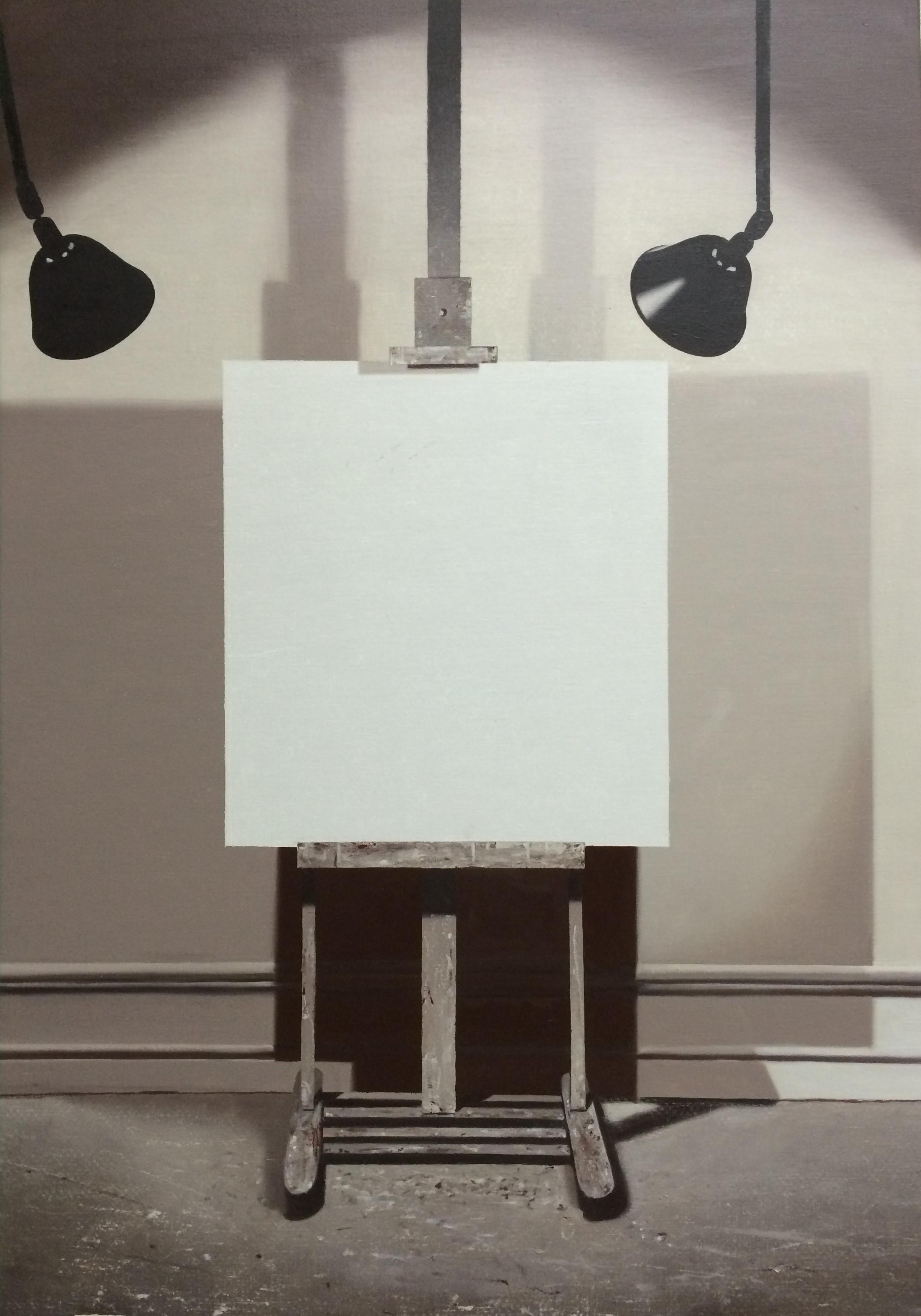 LG Lundberg, Det gamla staffliet, 2014, oil on canvas, 123 x 84 cm