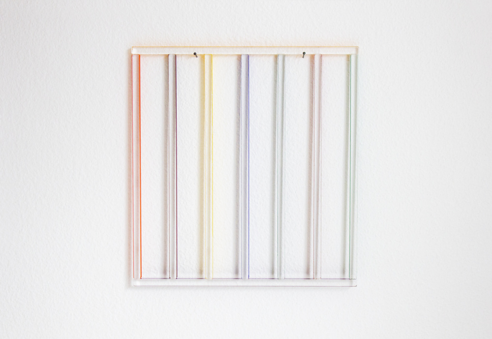 Mikael Fagerlund, Coloured wall painting II, 2014, vinyl acrylic glass, 31 x 29 x 1 cm