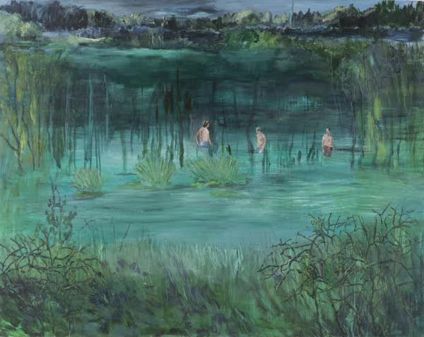 Helmtrud Nyström, Vattenprov, 2014, oil on canvas, 115 x 145 cm