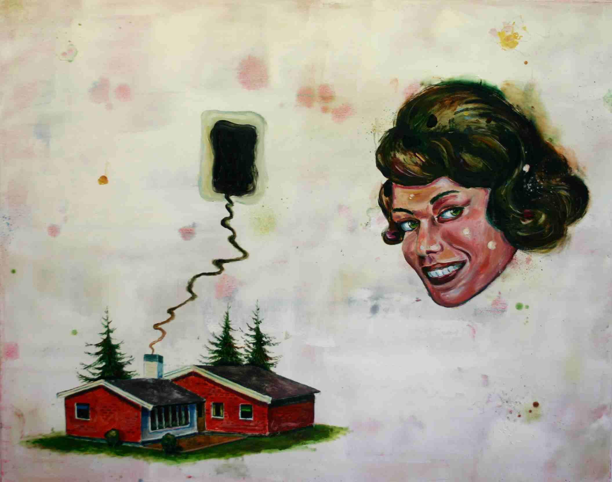 Olle Schmidt, Big Dream, 2015, oil on canvas, 80 x 120 cm