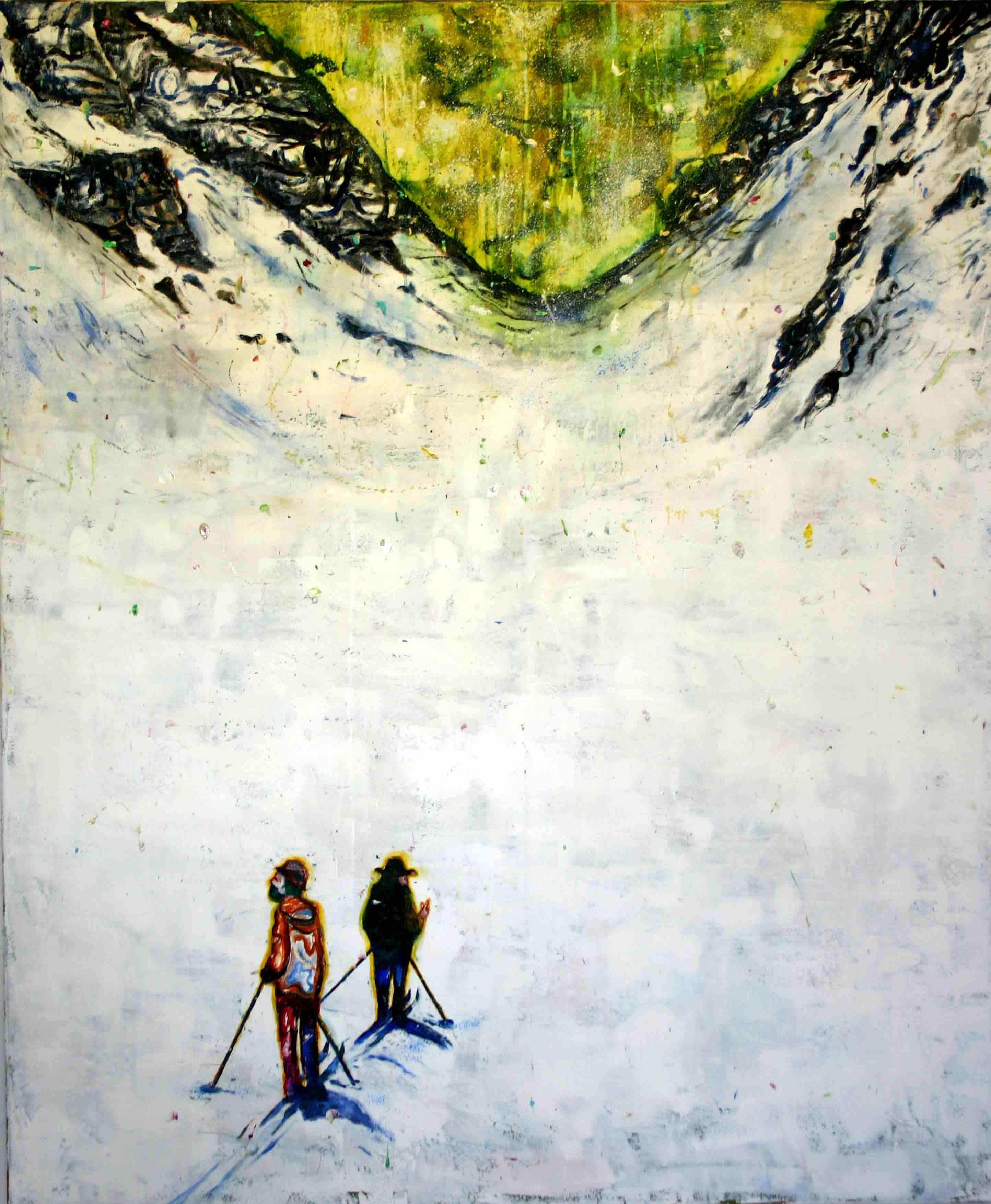 Olle Schmidt, Explorer 1, 2016, oil on canvas, 145 x 120 cm