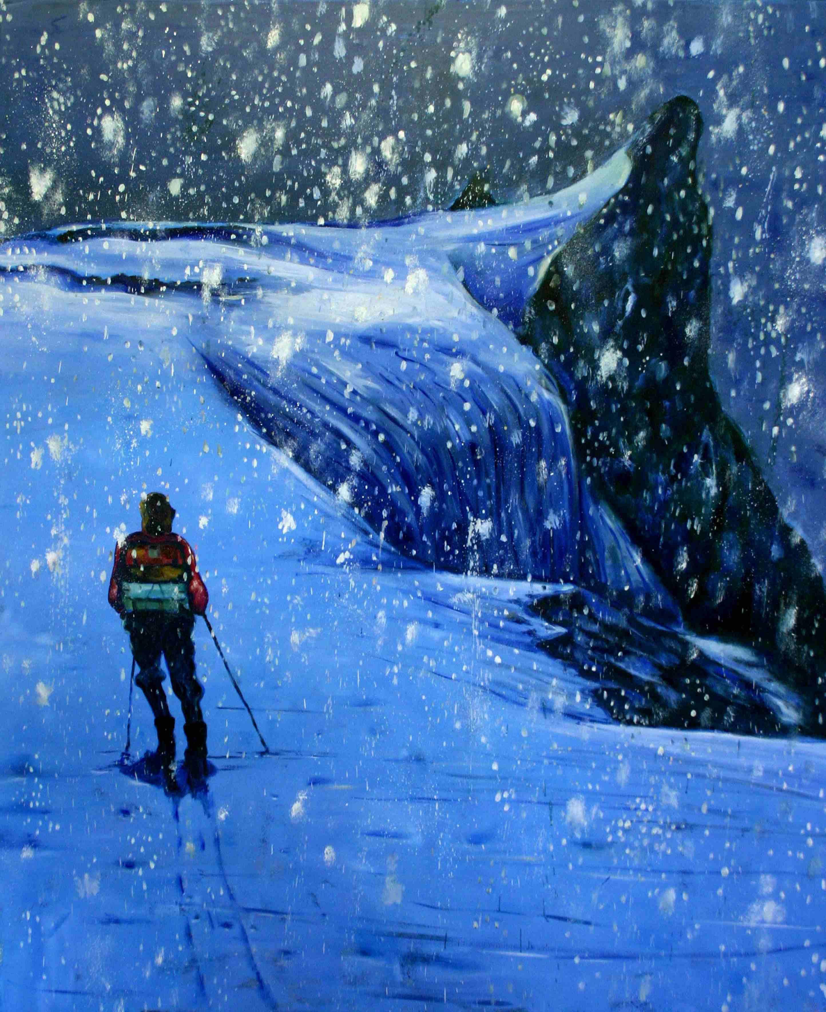 Olle Schmidt, Explorer II, 2016, oil on canvas, 145 x 120 cm