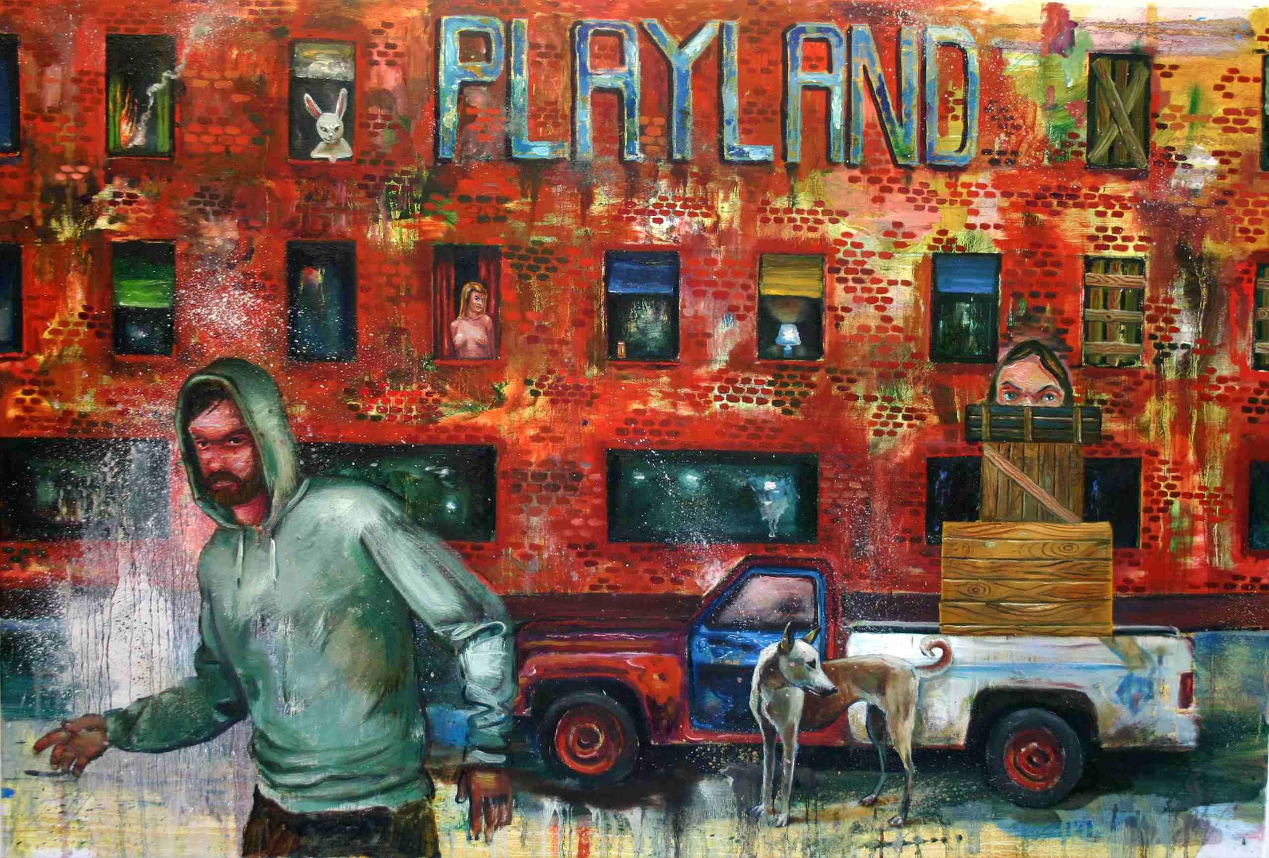 Olle Schmidt, Late Sunday Night, 2016, oil on canvas, 81 x 120 cm