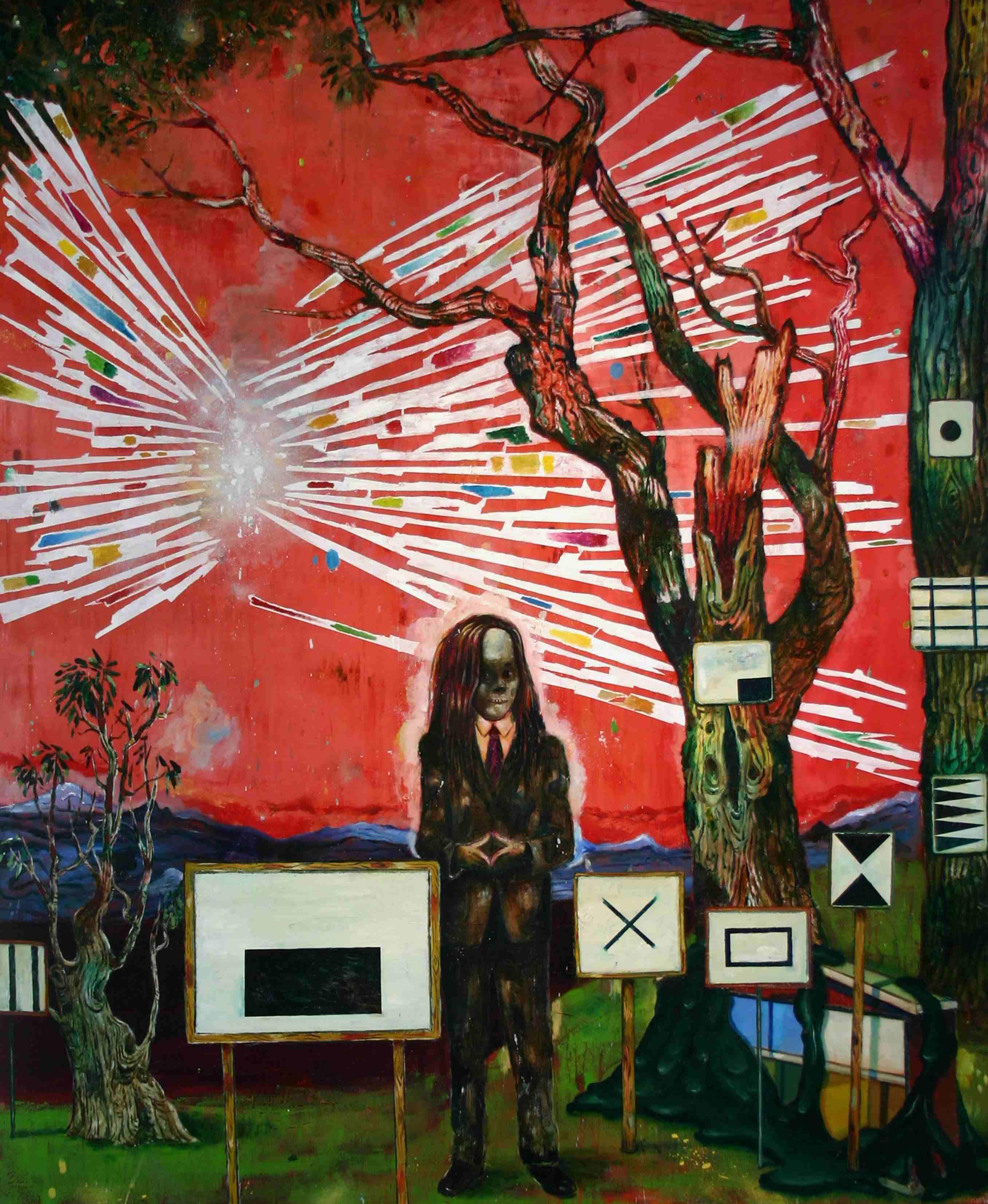 Olle Schmidt, Messangers Message, 2016, oil on canvas, 145 x 120 cm