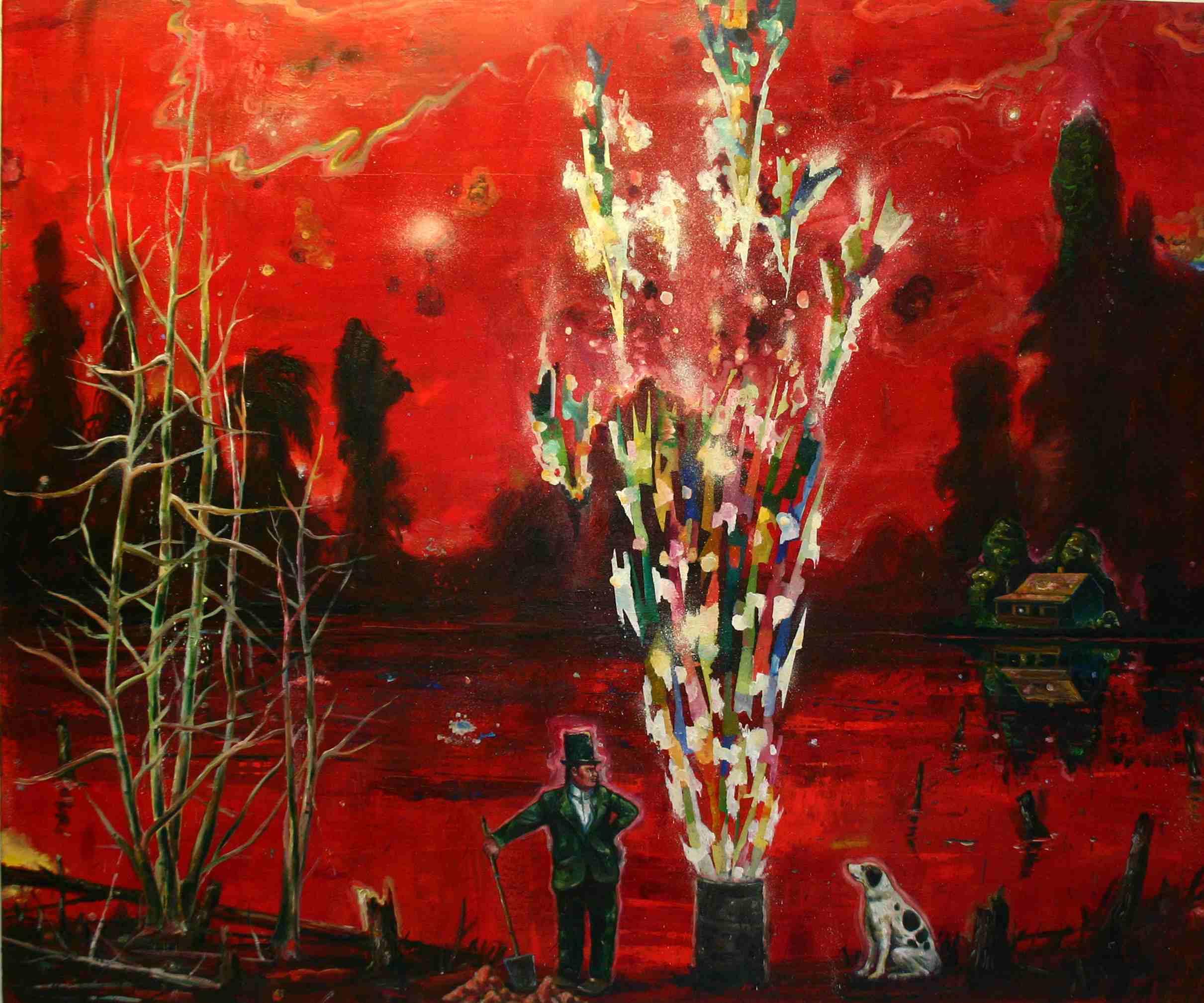 Olle Schmidt, Treasure Hunt II, 2015, oil on canvas, 120 x 145 cm