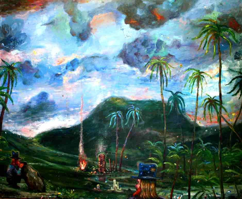 Olle Schmidt, Valley 2017, oil on canvas, 120 x 145 cm