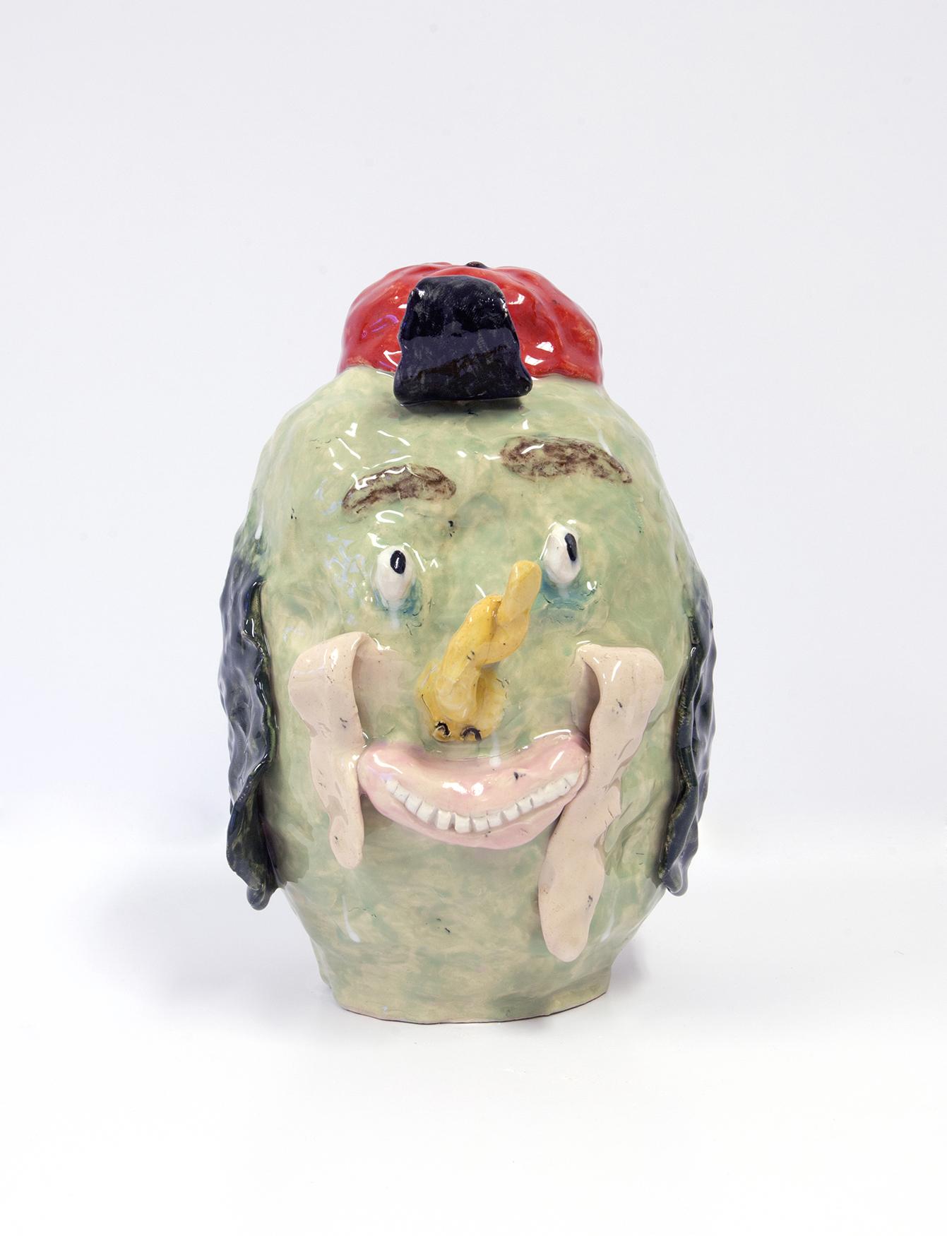 Joakim Ojanen, Loop Nose, 2017, stoneware, h: 24 cm