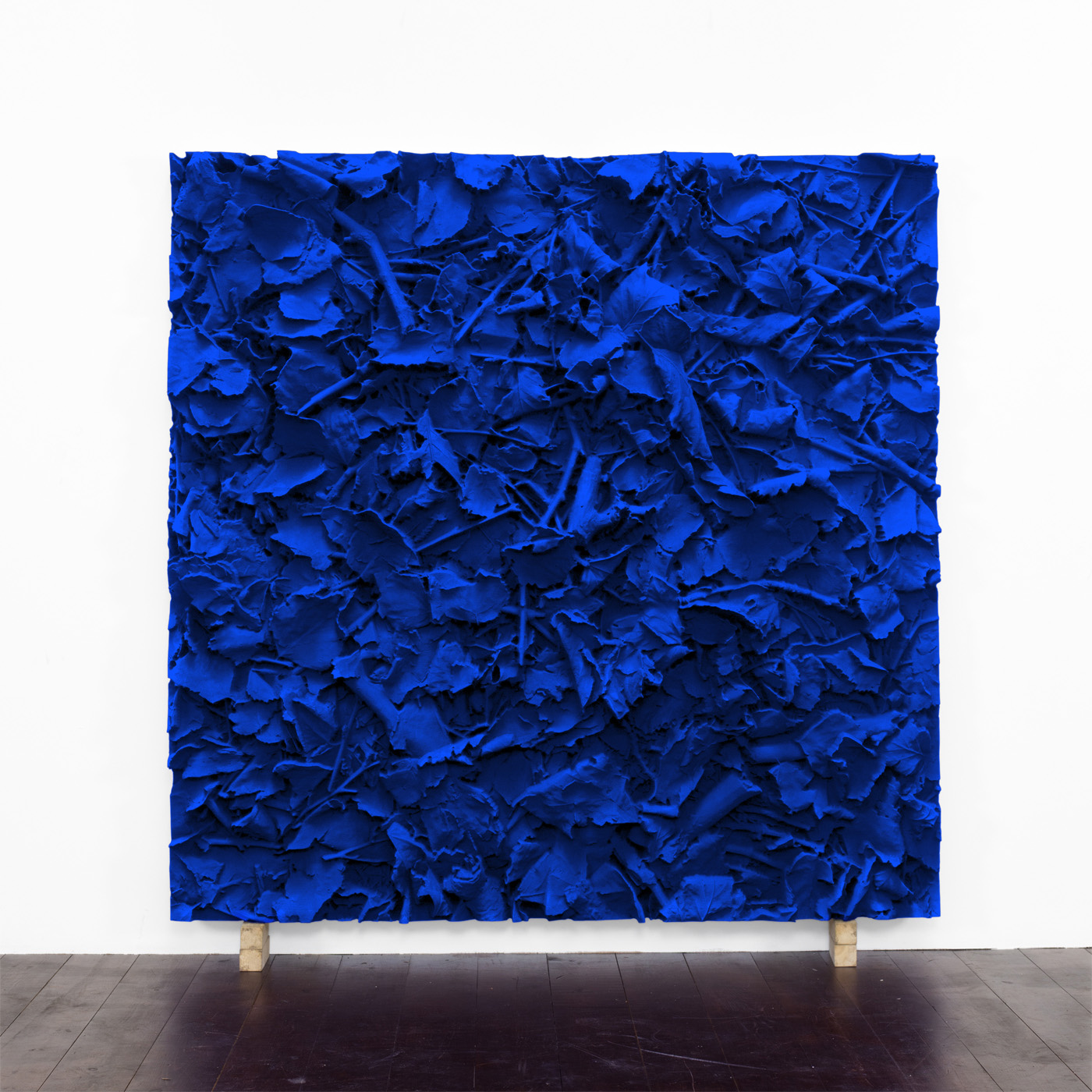 Juri Markkula, IKB Ground, 2016, Pigmented polyvinyl on polyuretan relief, 150 x 150 x 13 cm
