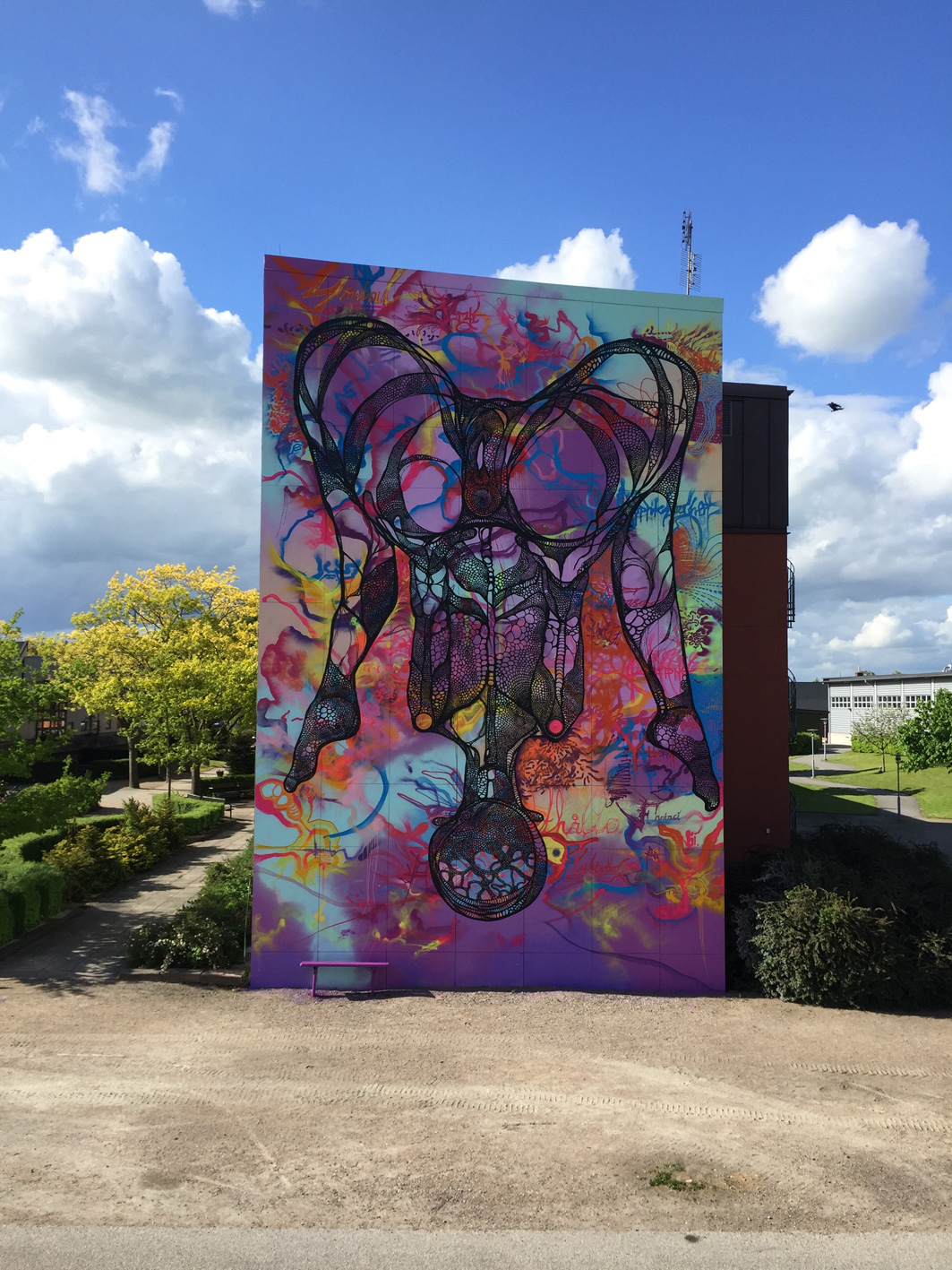 Carolina Falkholt, Untitled wall painting, 2015, public commission for the city of Ystad, Sweden.