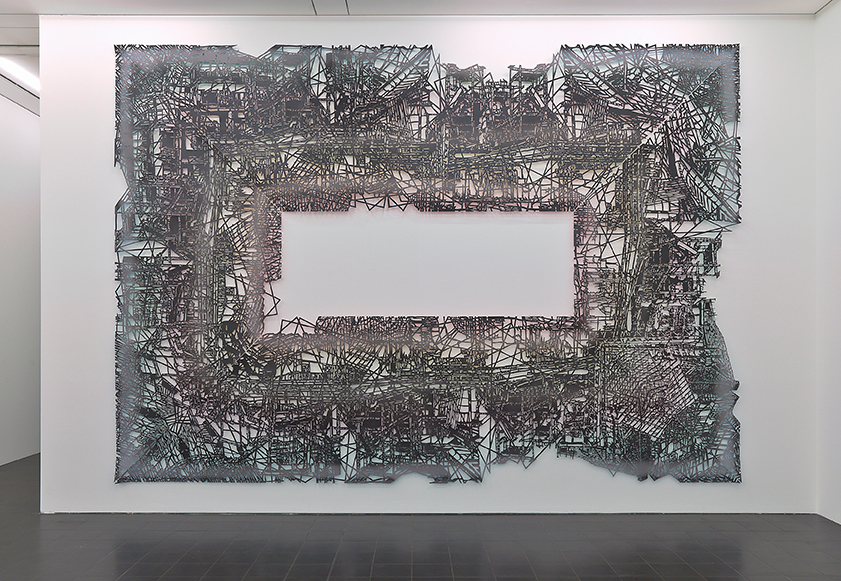 Gabriele Basch, falk, 2010, spraypaint on cutout paper, 350 x 500 cm at Hamburger Kunsthalle, Hamburg