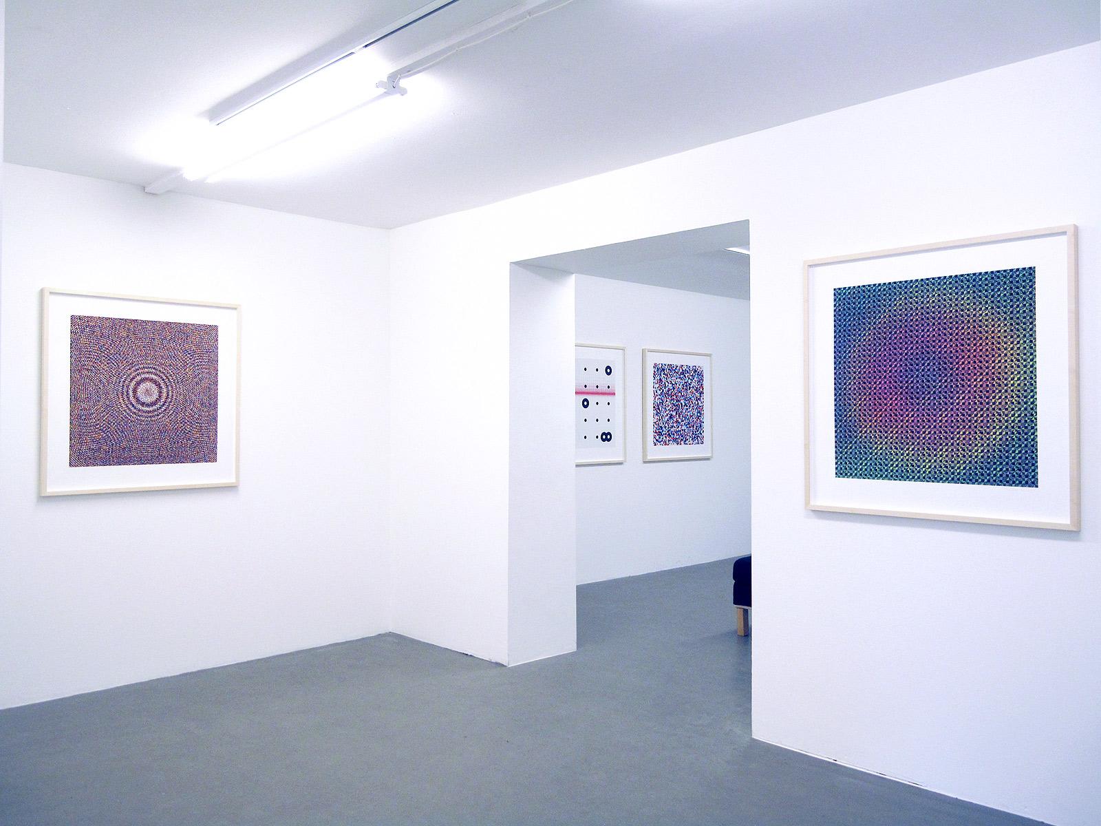 Gustav Sparr, Holographic Plate, 2016, Hologram Grid Paper, 2016, both Inkjet print, ed. 9+2, both 90 x 95 cm