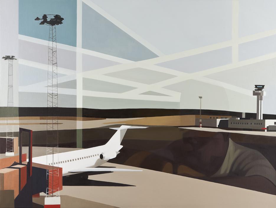 Christina Skårud, Mer ett möte än ett farväl, 2011, oil on canvas, 120 x160 cm