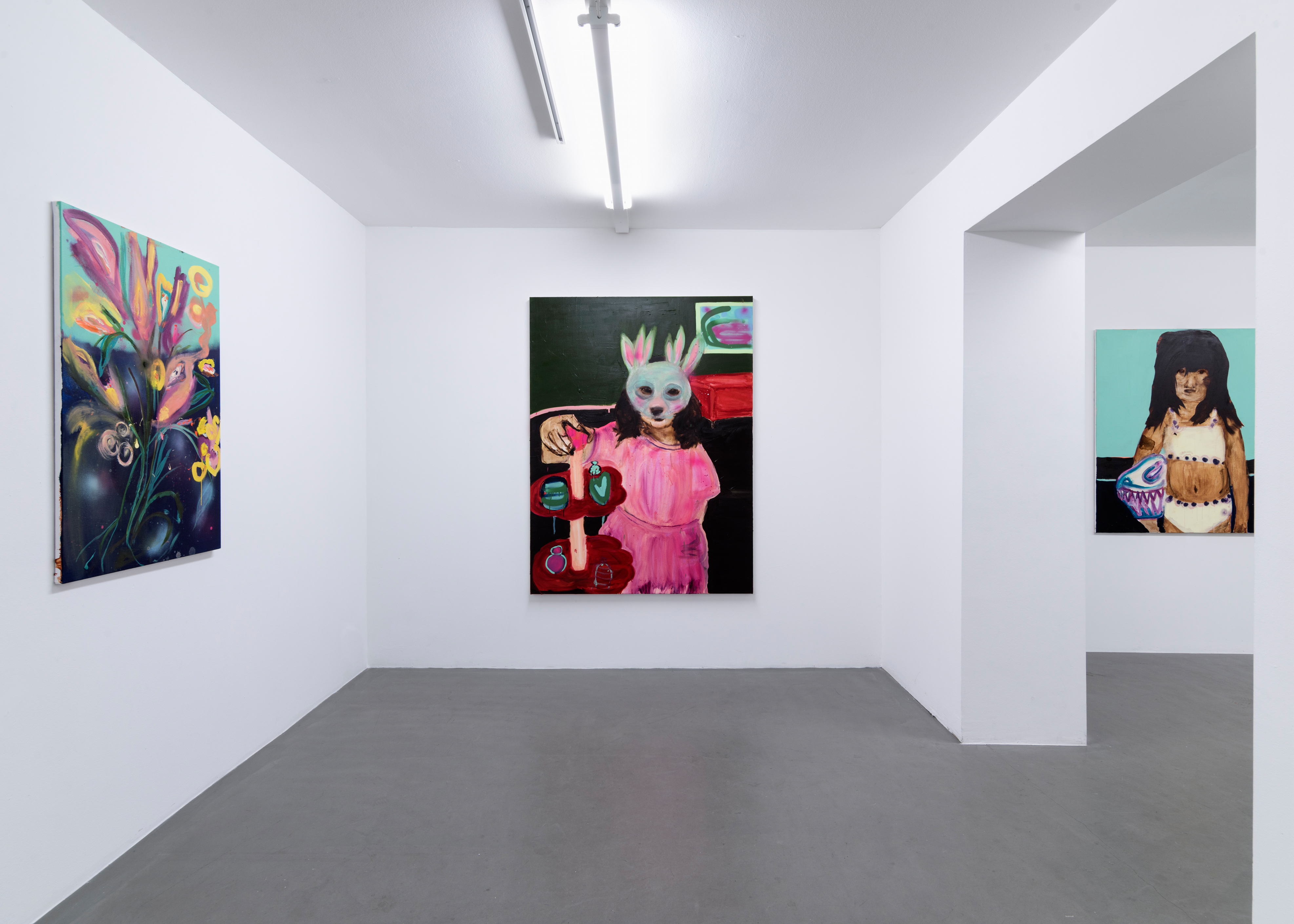 Rauha Mäkilä, Installation view, In The Belly of Painting, at Galleri Thomassen, 2017