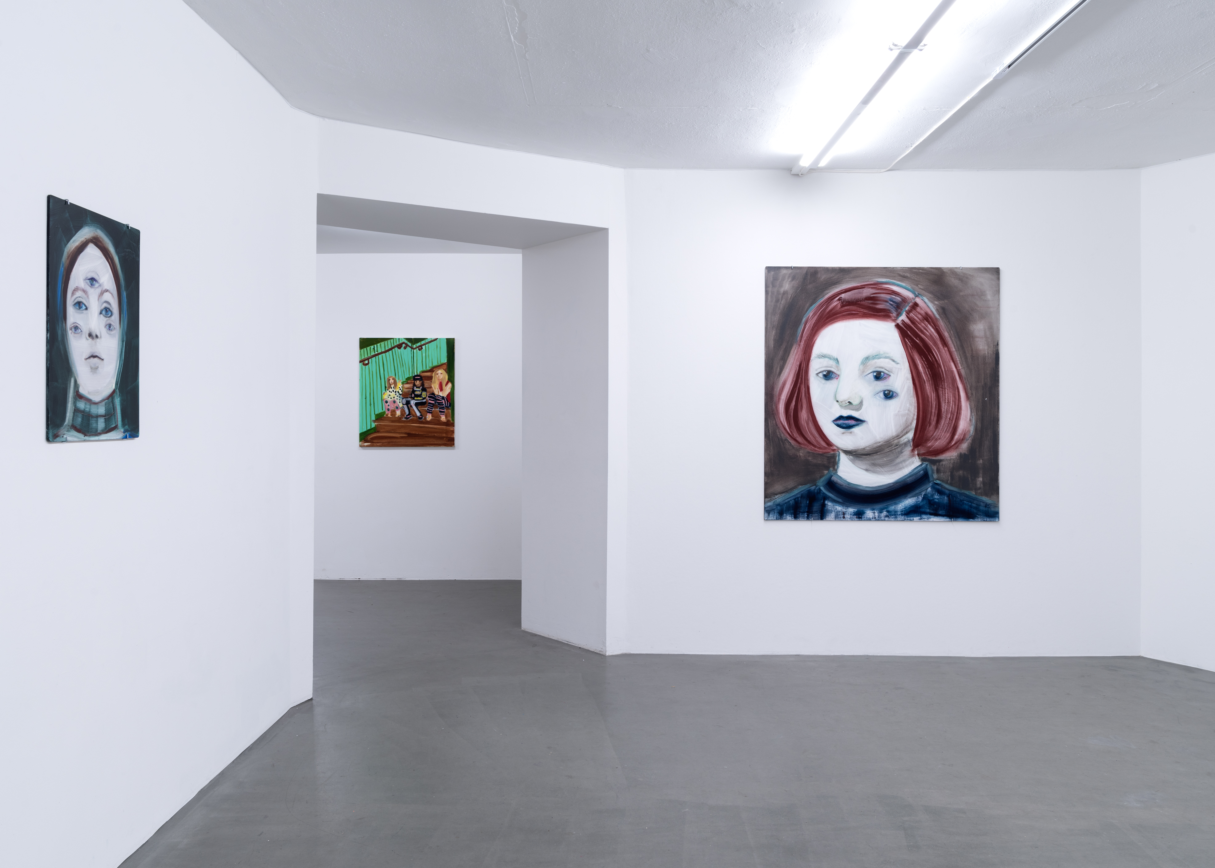Hannalena Heiska, Installation view, In The Belly of Painting, at Galleri Thomassen, 2017