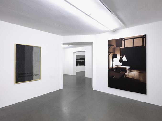 LG Lundberg, Installation view 'Bergh var härute nyligen', 2017, Galleri Thomassen.