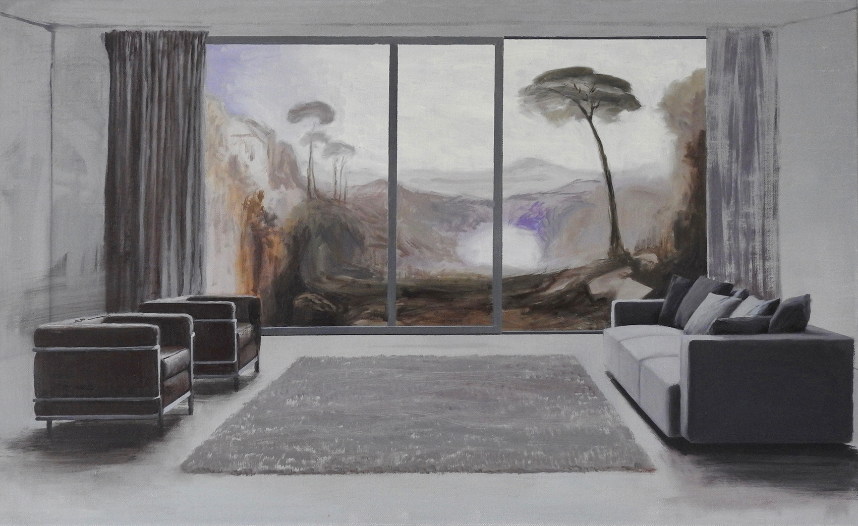 "3. ""Room with a Turner view"" 55x90 cm."