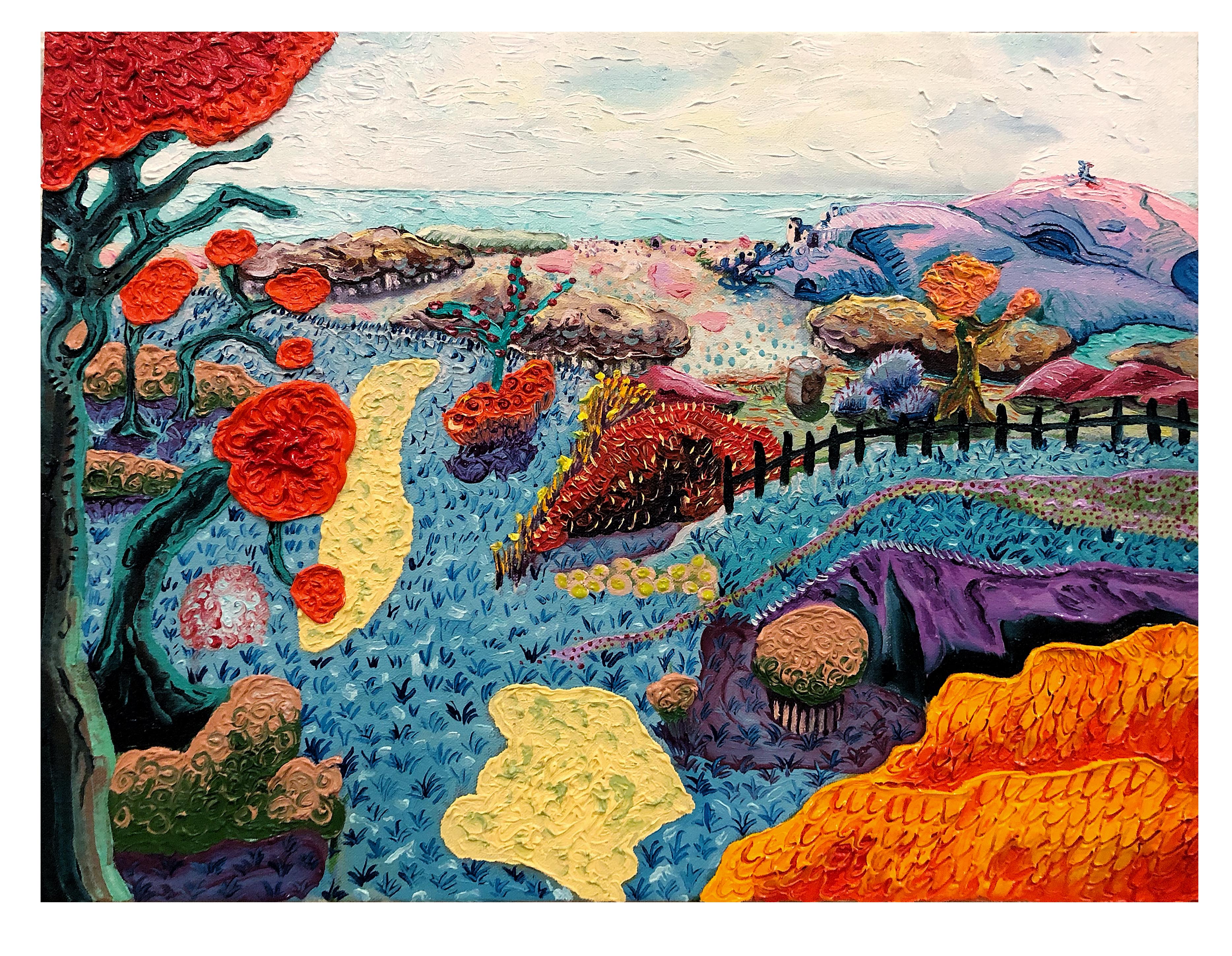 """Landscape 4(city)"""", 45x65 cm, oil on canvas, 2020"""